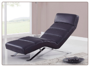 F05 Relax Chaise - Black - Global Furniture
