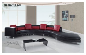 G919 Black/Red 4 PCS  Sectional Sofa