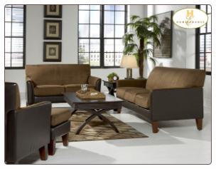 Microfiber Living Room Set in Contemporary Style, 'Petite' Collection by Homelegance.