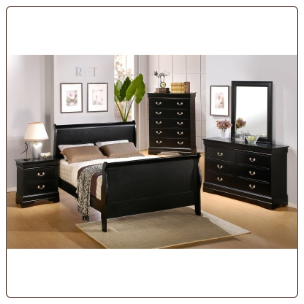 Louis Philippe Youth Bedroom Set in Deep Black Finish by Coaster - 201071T