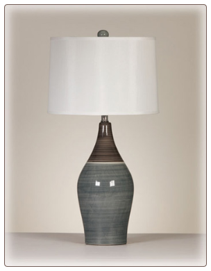 Signature Design by Ashley - Table Lamp in Multi Gray(Set of 2)