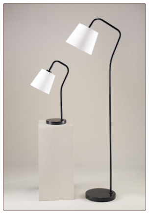 LAMPS - CONTEMPORARY SET OF 2 PEMBA METAL LAMPS BY SIGNATURE DESIGN BY ASHLEY