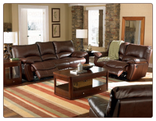 lifford Double Reclining Living Room Set in Brown Leather by Coaster - 600281S