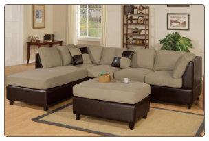 F7617 - Reversible Sectional Sofa Set