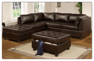 POUNDEX 5 PCS SECTIONAL F7361 CHOCOLATE