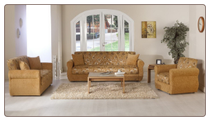 Melody 2 Pcs Living Room Set inNatural (Sofa and Loveseat) - Sunset Furniture-Istikbal