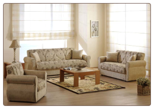 Melody 2 Pcs Living Room Set in Yasemin Beige (Sofa and Loveseat) - Sunset Furniture-Istikbal