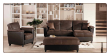Aspen Sectional Convertible Livingroom Set- Sectiona - w/ storage + Ottoman by Istikbal