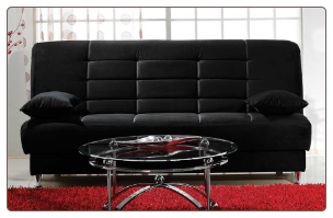 Vegas Rainbow Black Convertible Sofa Bed - Sunset Furniture-Istikbal