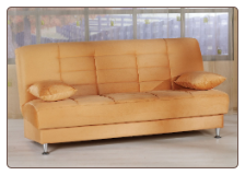 Vegas Rainbow Light Orange Convertible Sofa Bed - Sunset Furniture-Istikbal