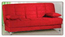 Vegas Rainbow Red Convertible Sofa Bed - Sunset Furniture-Istikbal