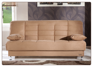 Vegas Rainbow Brown Convertible Sofa Bed - Sunset Furniture-Istikbal