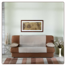 Regata Sofa Bed in Naturale Beige and Brown - Sunset Furniture-Istikbal