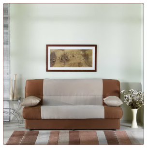 Regata Rainbow Beige/Brown Sofa Bed - Sunset Furniture-Istikbal