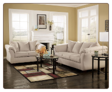 Darcy  Contemporary  Living Room Sofa  Set with Accent Pillows by Signature  Ashley
