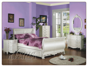 Pearl Twin Sleigh Bed Collection
