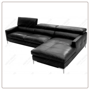ITALIAN BLACK LEATHER SECTIONAL by J&M Furniture