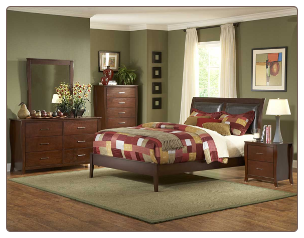 Rivera Bedroom Set w/ Upholstered Bed