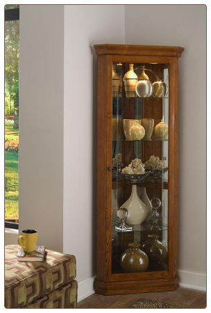 Golden OaK - Curio By Pulaski Furniture