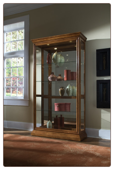 Two Way Sliding Door Curio Cabinet By Pulaski Furniture