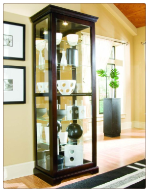 Oxford black - Curio By Pulaski Furniture