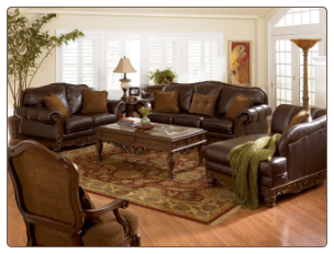 North Shore-Dark Brown Leather Living Room Set