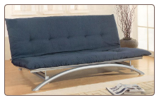 Silver Finish Futon Bed By Coaster Furniture