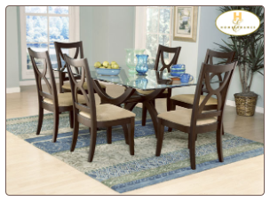 Stardust Collection - Glass Top Dining Room Set
