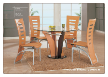 Natural Colored Dinette Set By Global Furniture USA