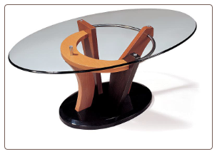 "Round Glass Coffe Table Set ""5443"" By Global Furniture USA"