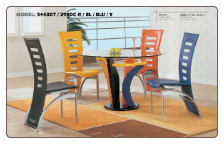 Multicolored Dinette Set with Round Table By Global Furniture USA