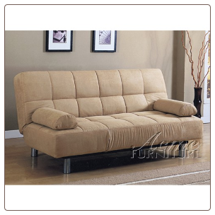 Cybil Beige Finish Adjustable Sofa