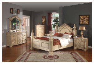 Sienna - Elegant Solid Wood Traditional Style Bedroom Complete Bedroom Set with Panel Bed