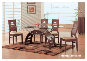 "Dining Room Set ""63DT"" By Global Furniture"