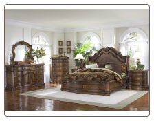 San Mateo - Sleigh Bedroom Set (King)