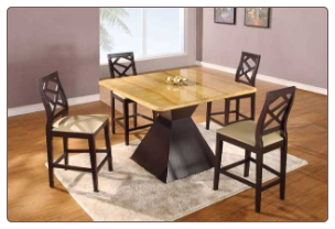 Marbled Top GL-7020 Bar Room Table Set By Global Furnither USA