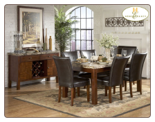 Achillea Collection - Marble Top Dining Room Set