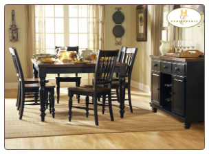 Oxford Collection (Black) - Dining Room Set