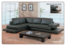 Modern Dark Brown Leather Sectional By Global Furniture ( 729 )