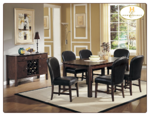 Europa Collection - Dining Room Set (Brown)