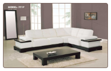 Practical White Leather Modern Sectional Set By Global Furniture