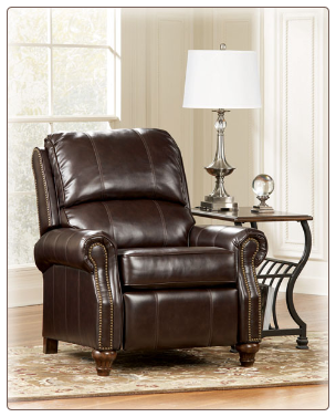 DuraBlend  Mahogany- Low Leg Recliner Signature Design by Ashley Furniture