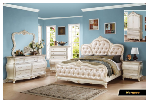 Marquee - Elegant Solid Wood Traditional Bedroom Set by Empire Furniture Design