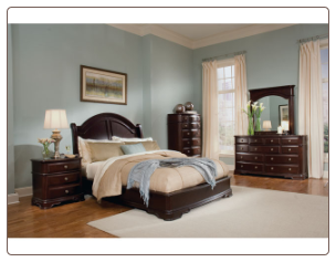 Dark Brown Traditional Style Bedroom Set with Low Profile Bed, 'Grandover' Collection by Homelegance.