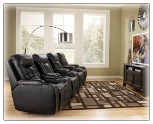 Matinee DuraBlend - Eclipse Recliner w/Power (Eclipse) Signature Design by Ashley Furniture