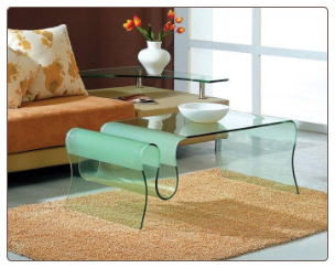 Jm-062 Curved Glass Coffee Table by J&m Furniture