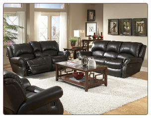 Philly Sofa Collection in Dark Brown - Homelegance