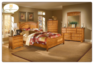 Contemporary Bedroom Set from Natural Birch Wood Grain, 'Laurel Heights' Collection by Homelegance.