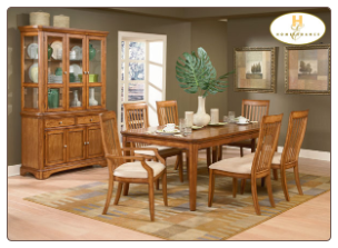 Laurel Heights Collection - Dining Room Set (Oak)