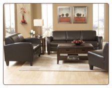 Contemporary Two-Piece Living Room Set in Dark Chocolate Bi-Cast Vinyl, 'Allen' Collection by Homelegance.